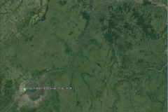 Satellite image of the Congo basin at the Brazzaville outlet.