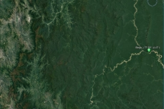Satellite image of the Marañon basin at the Borja outlet.