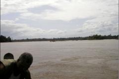View of the Hybam sampling point at Langa Tabiki on the Maroni river.