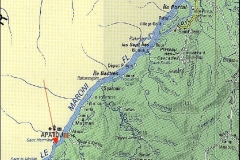 Location of the Hybam sampling point at Langa Tabiki on Maroni river.