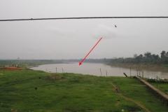 Sampling point upstream from Lábrea.