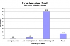 Distribution of lithological classes.