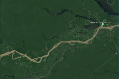 Satellite image of the Solimões basin at the Manacapuru outlet.