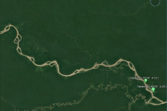 Satellite image of the Solimões basin at the Tabatinga outlet.