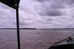 View of the Hybam sampling point at Tabatinga.